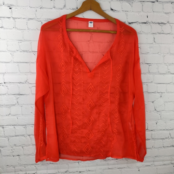 Old Navy Tops - 3/$25 Old Navy Red/Orange Tunic Size M NWT